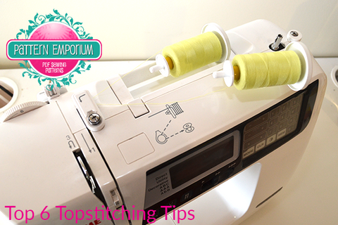 Top 6 Topstitching Tips by Pattern Emporium sewing patterns