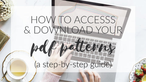 How to access and download your pdf sewing patterns by Pattern Emporium