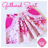 PDF Pattern: Girls Flat Front Gathered Skirt