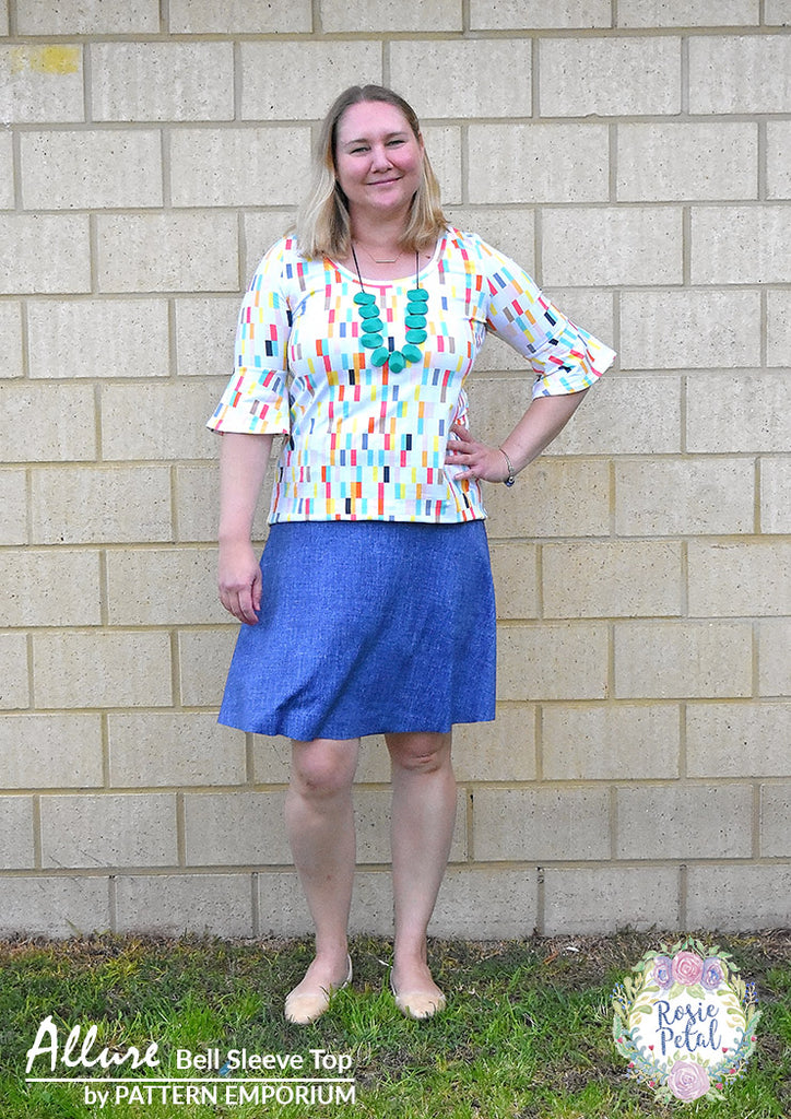 Sew our Bell Sleeve Top ladies sewing pattern