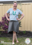 View our ladies t-shirt sewing pattern