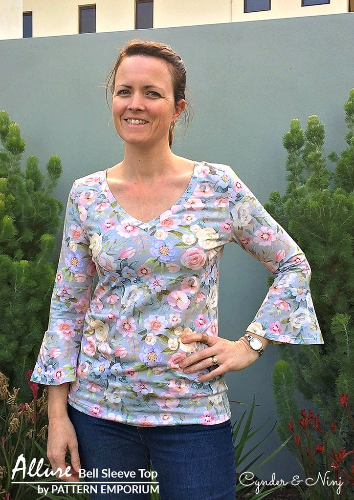 Allure Bell Sleeve Top LADIES PDF SEWING PATTERN