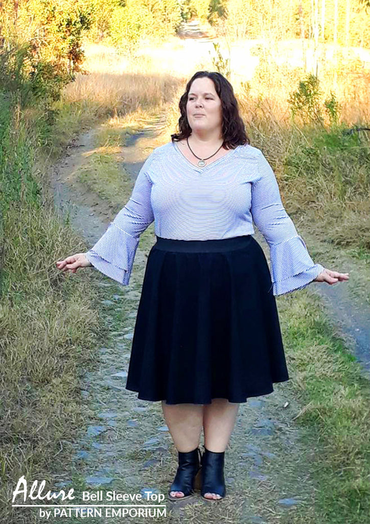 Make our Bell Sleeve Top ladies sewing pattern