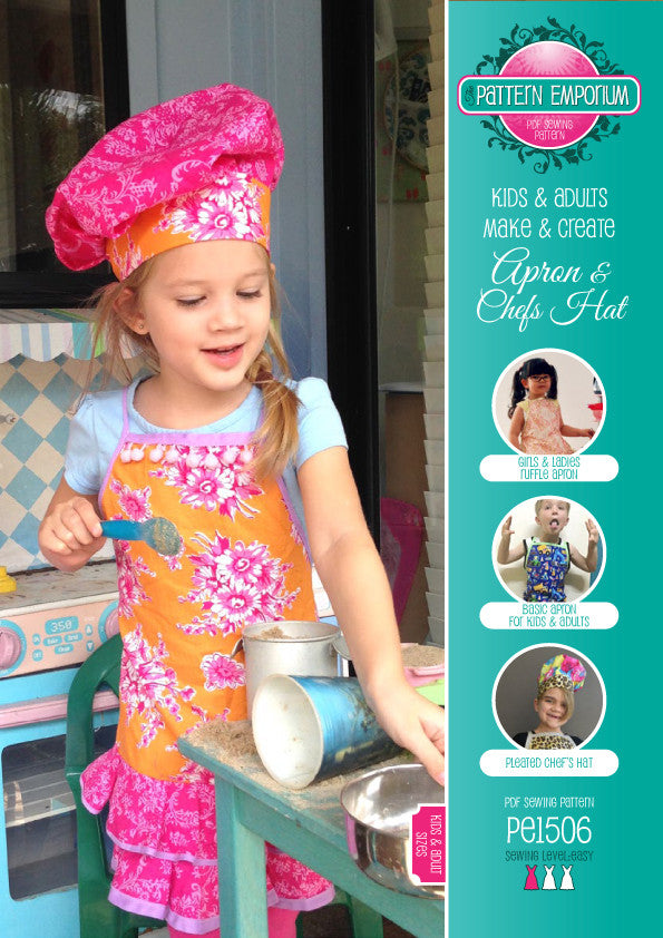 PDF Pattern: Ladies, Mens & Kids Apron