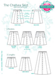 Chelsea Button-Up Skirt LADIES PDF SEWING PATTERN