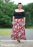 Make our ladies wrap skirt sewing pattern with flounce