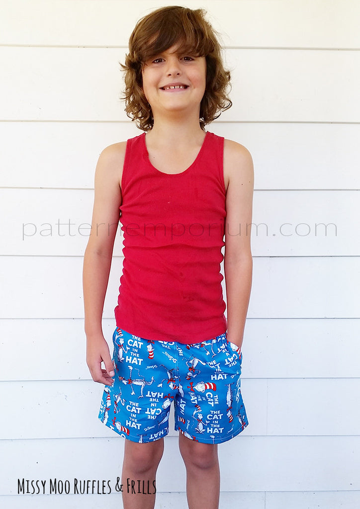 Busy Boys Everyday Shorts BOYS PDF SEWING PATTERN