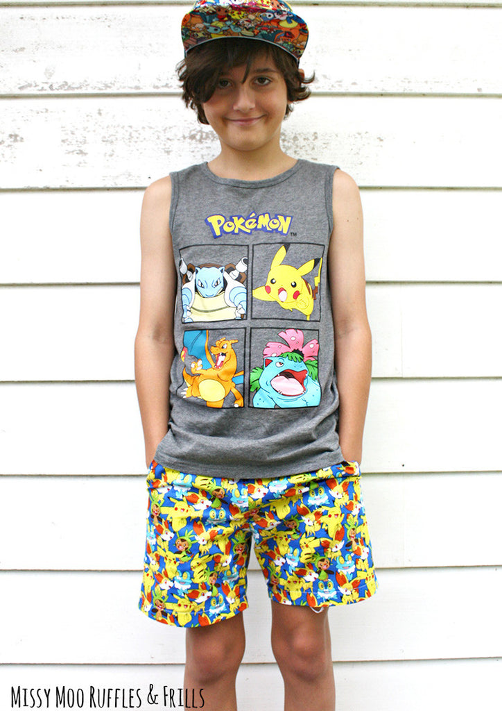 PDF Pattern: Busy Boys Everyday Shorts