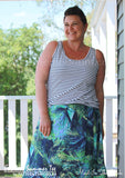 view our ladies sleeveless tee sewing pattern