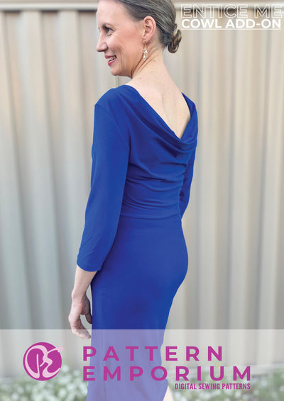 Entice Me Dress : Cowl Back ADD-ON ONLY