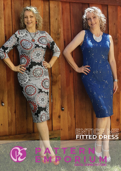BUNDLE: Entice Me Fitted Dress & Cowl Back Add-On