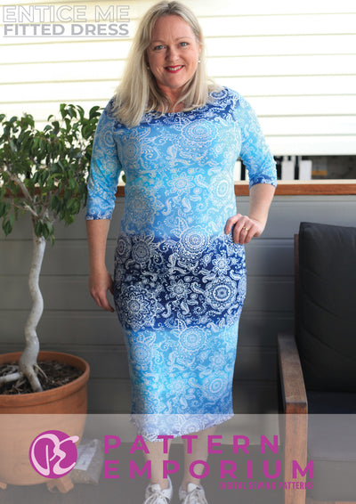 Entice Me Fitted Dress Sewing Pattern