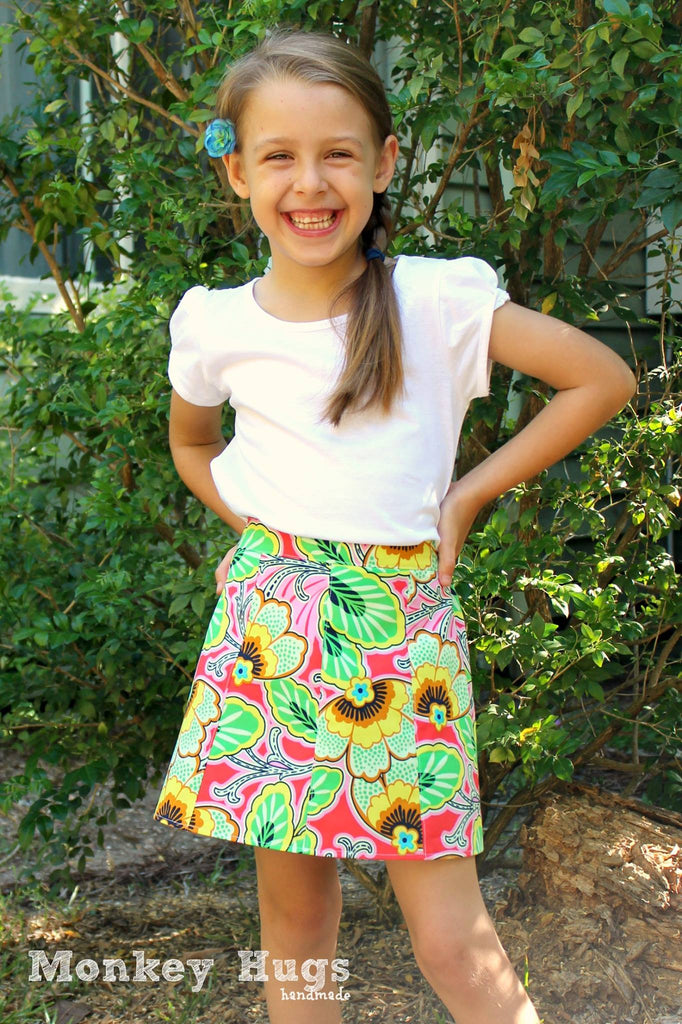 Lovebug A-line Skirt GIRLS PDF SEWING PATTERN – Pattern Emporium