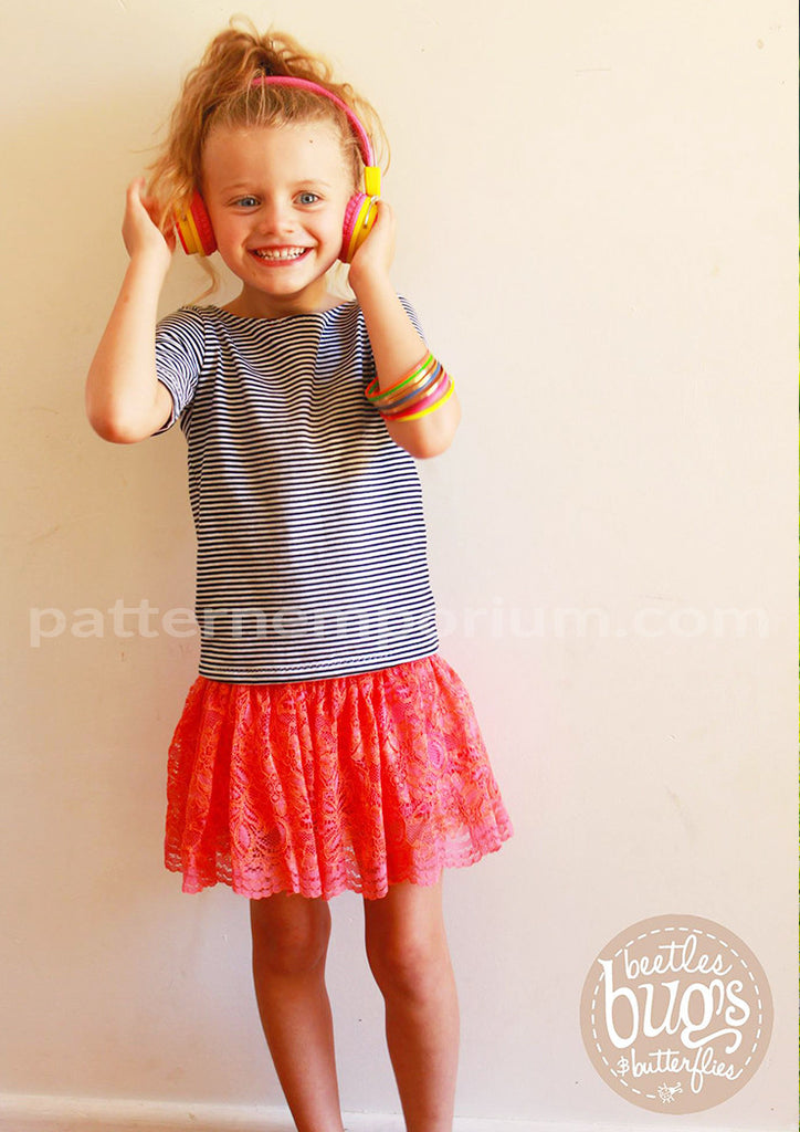 Girls Gathered Skirt with Optional Pockets – Pattern Emporium