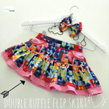 Ruffle Flip Skirt GIRLS PDF SEWING PATTERN