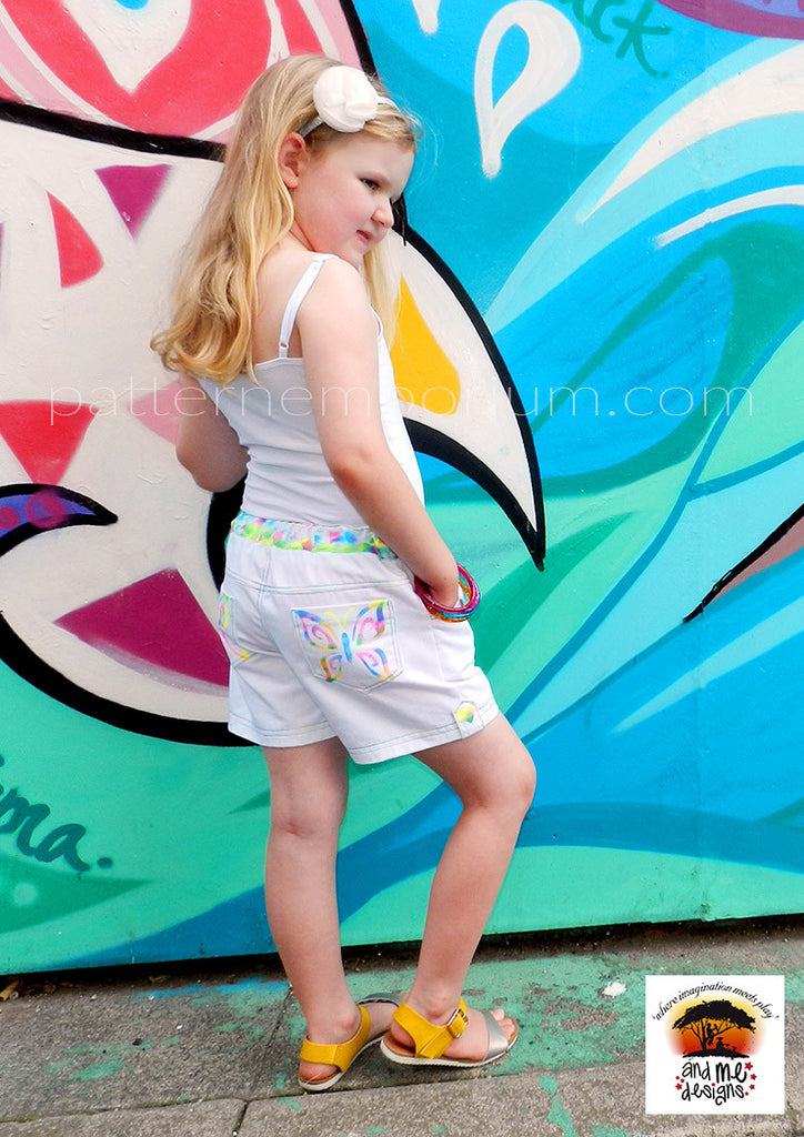 Girls Shorts Sewing Pattern with Pockets! – Pattern Emporium