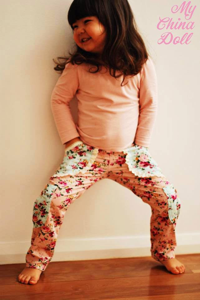 Sweetheart Cargo Pants GIRLS PDF SEWING PATTERN