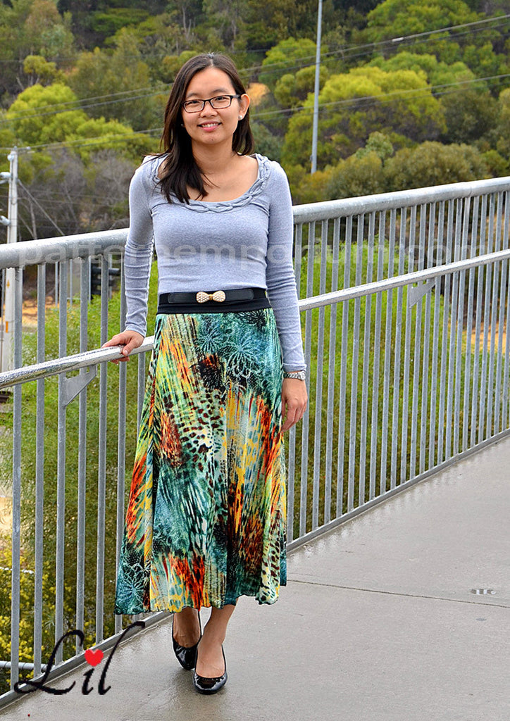 PDF Pattern: Ladies Heartlight Knit Skirt