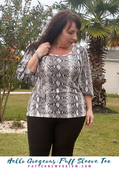 Hello Gorgeous Puff Sleeve Tee