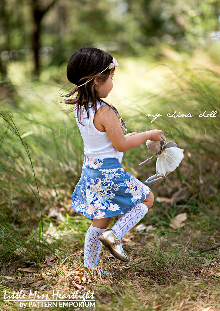 Little Miss Heartlight Skirt GIRLS PDF SEWING PATTERN