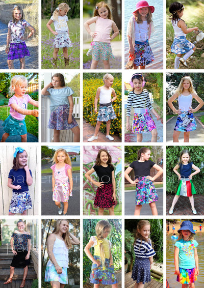 Kids Sewing Patterns: You will love the Heartlight Skirt