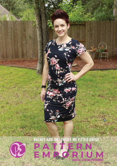 Entice Me Dress : Ruched & Asymmetric Add-On Sewing Pattern
