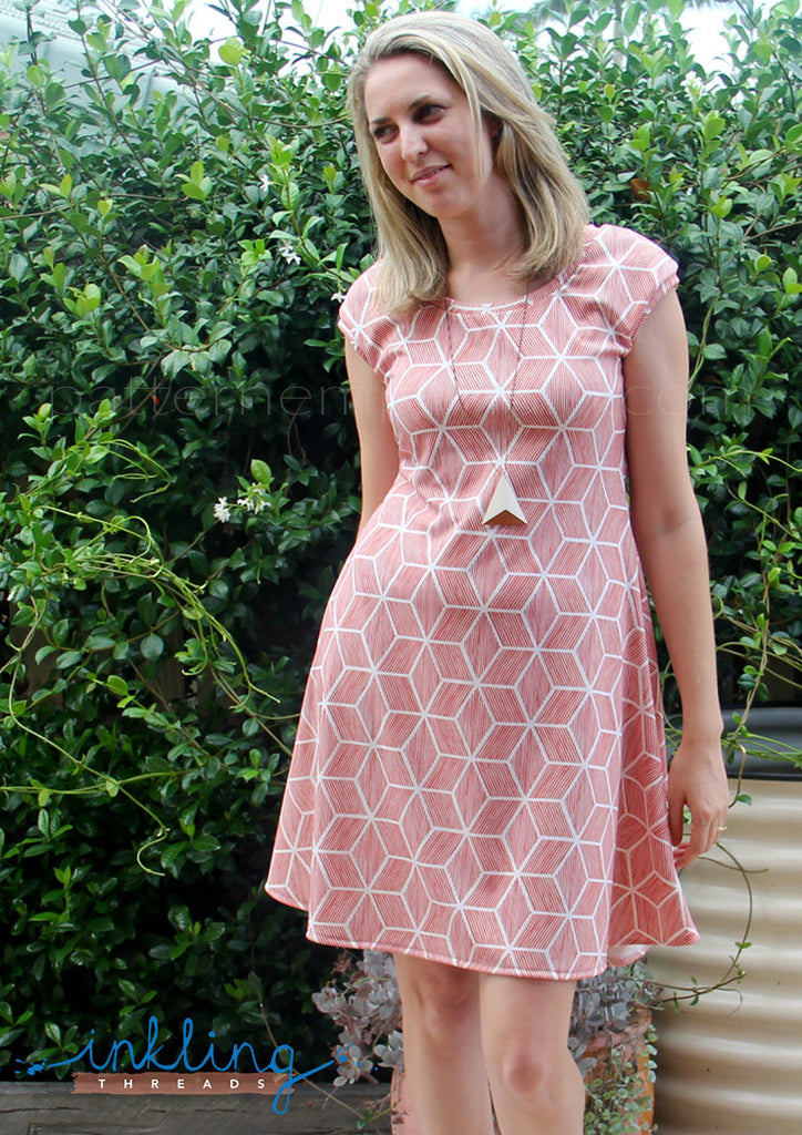 Ladies fit & flare dress for stretch knit fabrics ... - photo #22
