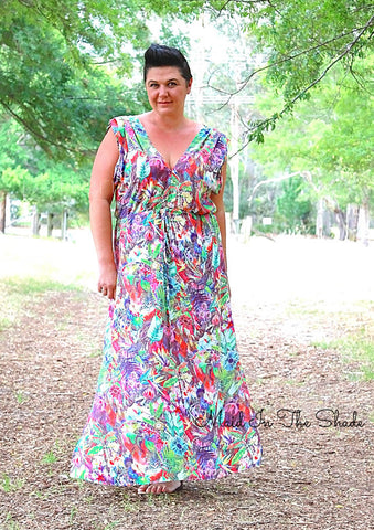 Melanie Hall wearing the Summer Breeze Dress by Pattern Emporium