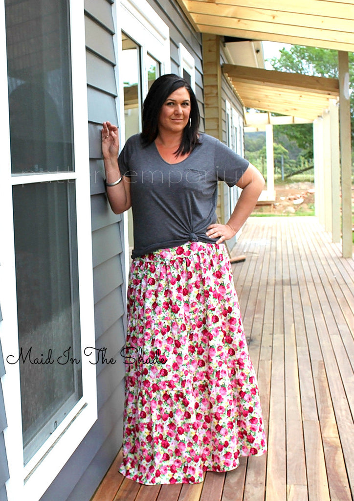 Ladies maxi skirt sewing pattern – Pattern Emporium
