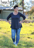 Ladies Trapeze Trio - Long Top, Tunic & Dress PDF PATTERN