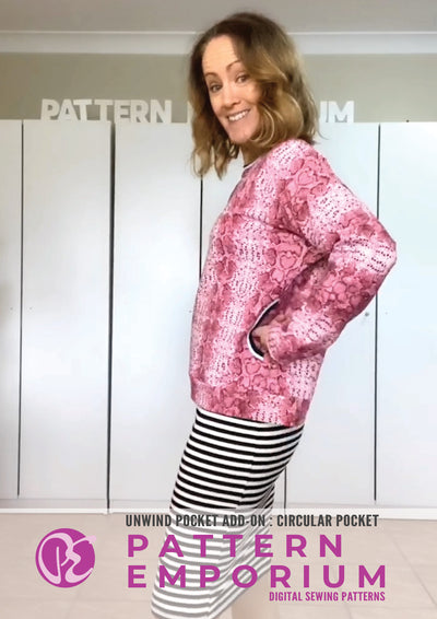 Unwind Pockets Add-on Sewing Pattern
