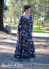 Wanderlust: Long sleeve stretch dress ladies sewing pattern
