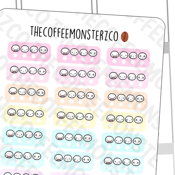 Mini Mood Trackers (Hobonichi), TheCoffeeMonsterzCo