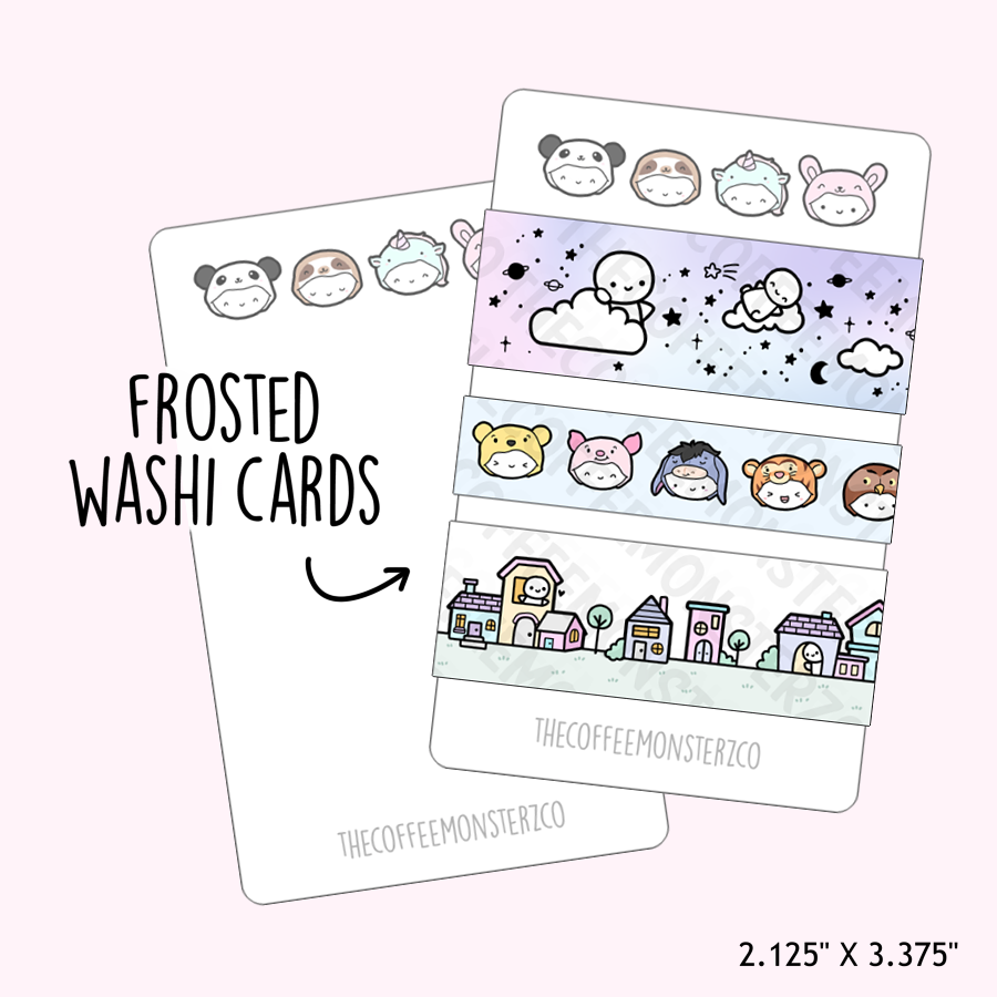 PREORDER Animal Onesie Washi Card (prototype)