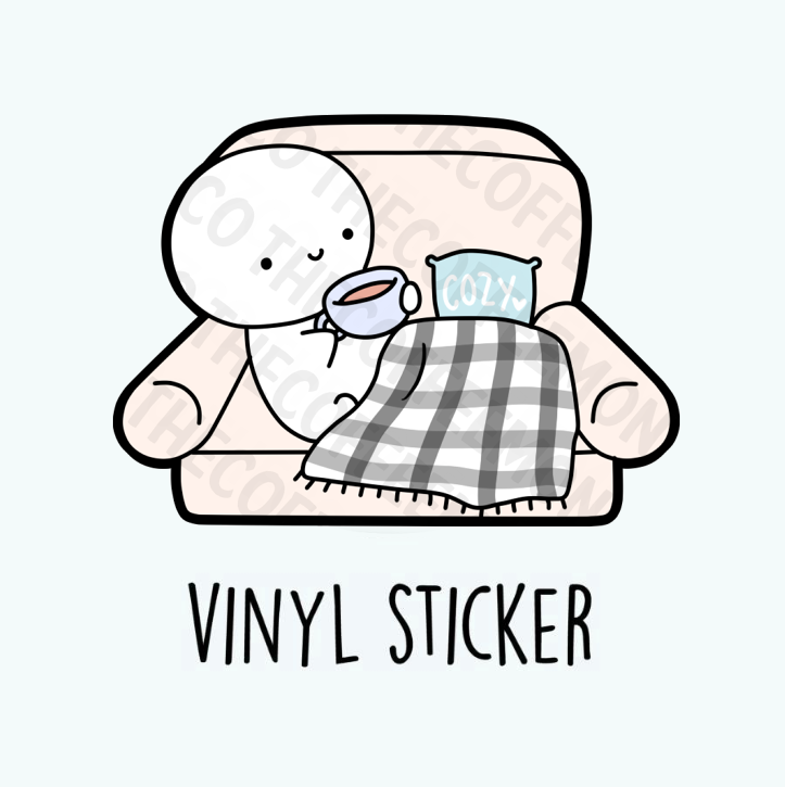 Cozy Couch Vinyl Stickers