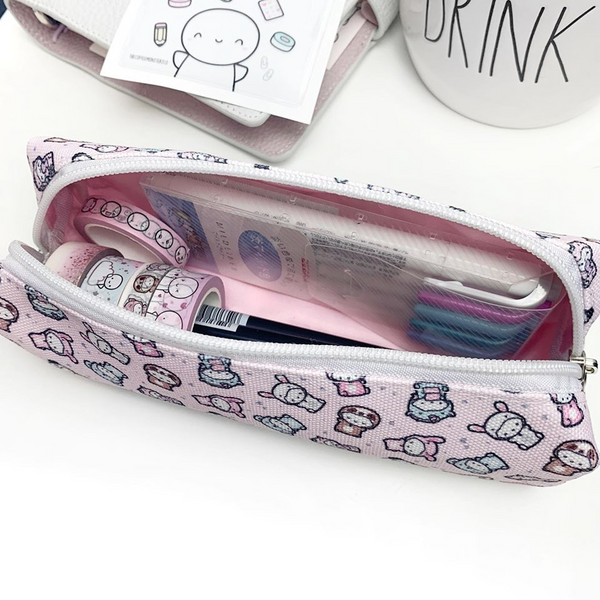 Powder Pink Animal Onesie Pencil Pouch (1 Per Person)
