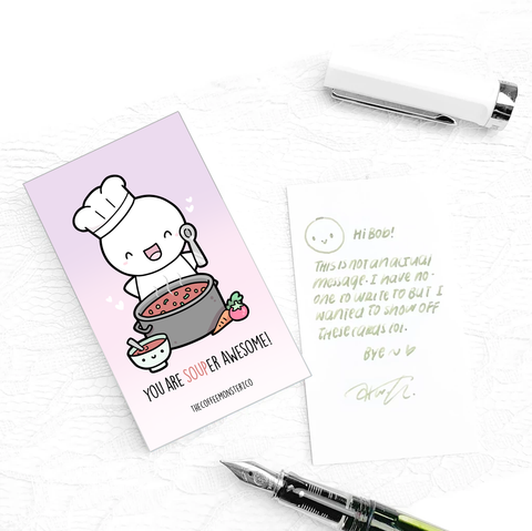 You are SOUPer Awesome (Compliment Card)