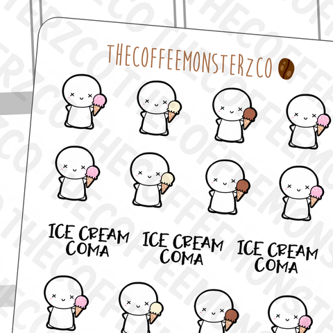 Ice Cream Coma Emotis, TheCoffeeMonsterzCo