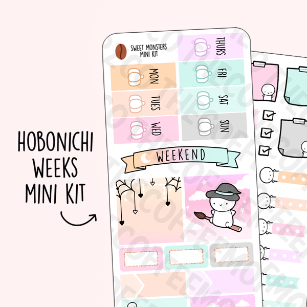 Sweet Monsters Hobonichi Weeks Kit