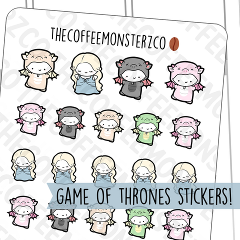 Mother of Dragons Emotis, TheCoffeeMonsterzCo