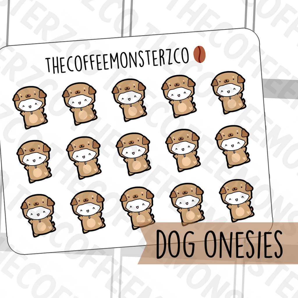 Dog Onesie Emotis, TheCoffeeMonsterzCo