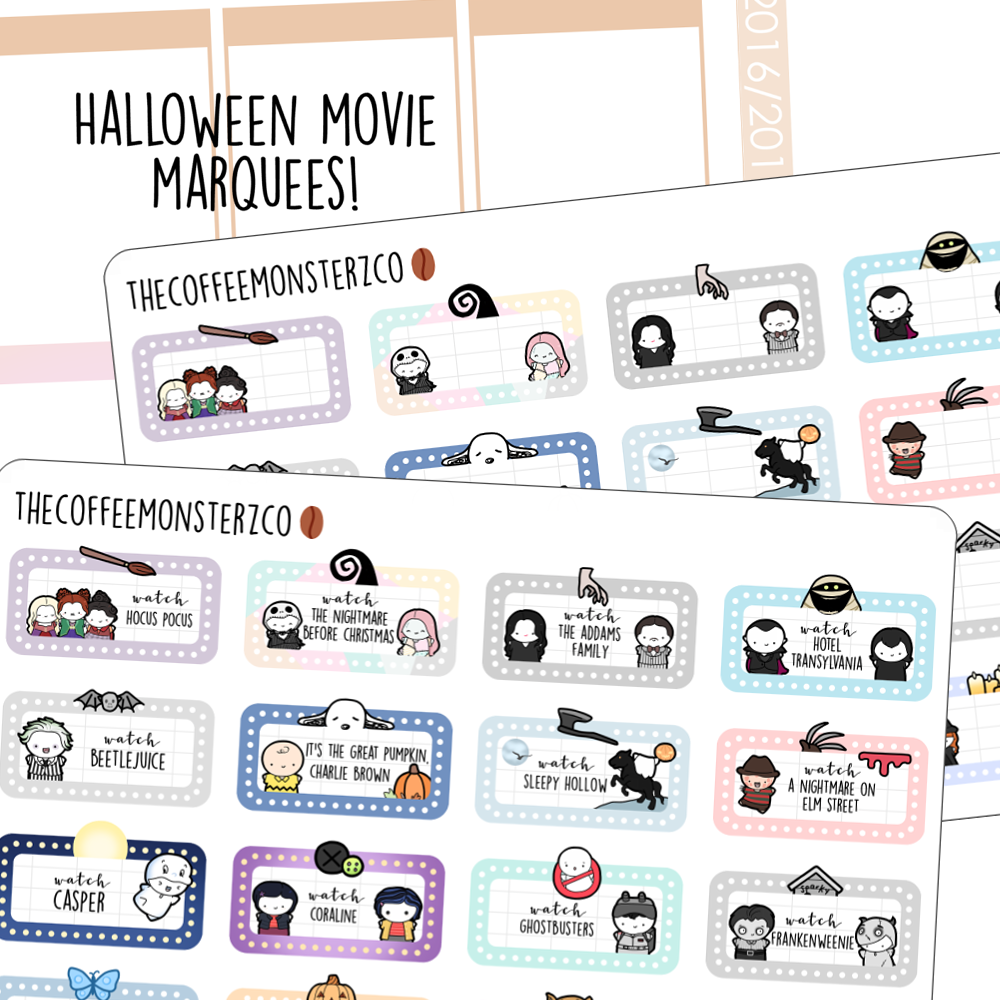Halloween Movie Marathon Marquees (FINAL STOCK)
