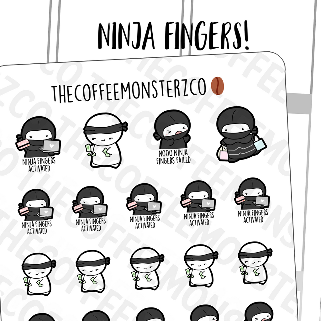 Ninja Fingers Emotis