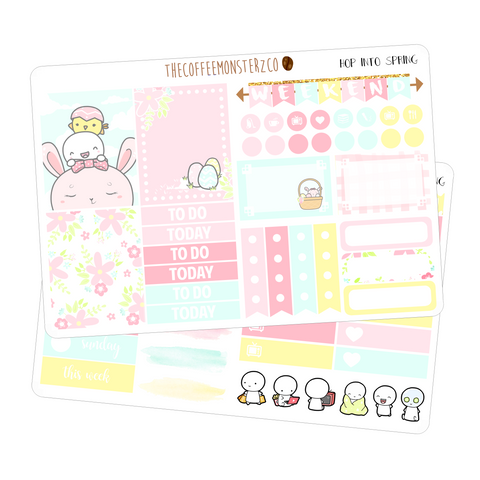 hop into spring mini kit, TheCoffeeMonsterzCo