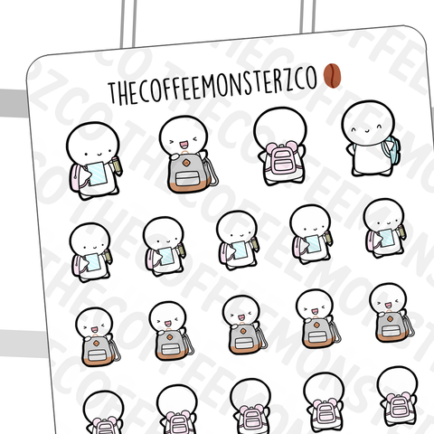Backpack Emotis, TheCoffeeMonsterzCo