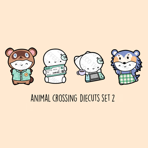 Animal Crossing Diecuts Set 2