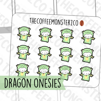 Dragon Onesie Emotis, TheCoffeeMonsterzCo
