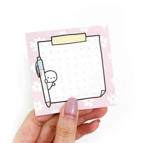 Spring Floral Sticky Note Pad - LIMIT 2 PER PERSON