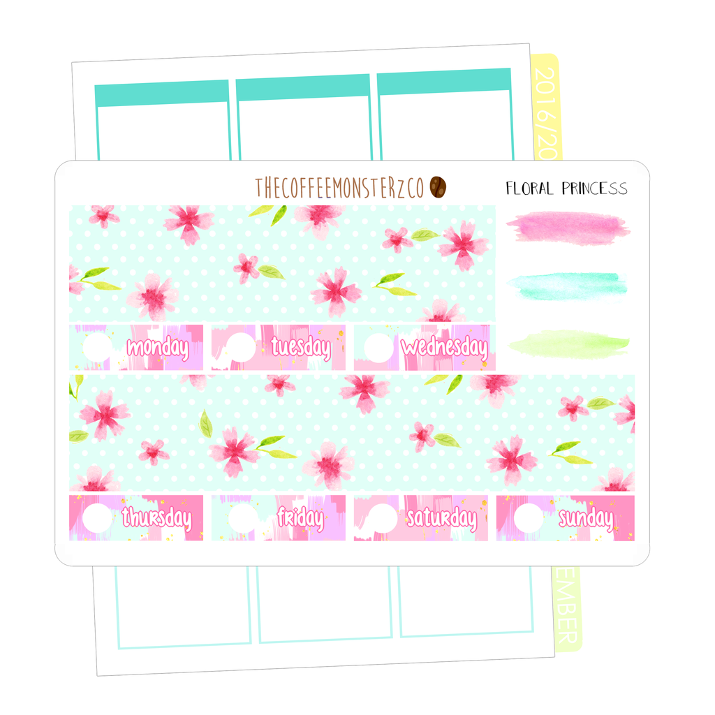 floral princess bottom washi, TheCoffeeMonsterzCo