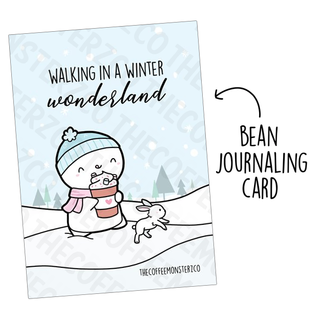 Walking in a Winter Wonderland (Bean Card)